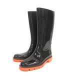 グッチ GUCCI レインブーツ 長靴 ラバー 37 ブラック 210218E 靴 IBS94