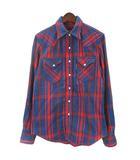 ブルーブルー BLUE BLUE チェック シャツ 長袖 700057-630 1 ネイビー レッド 210311E