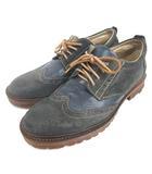 エポカ ウォモ EPOCA UOMO ウイングチップ シューズ スエード レースアップ 42 ネイビー 210318E 靴