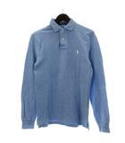ポロ ラルフローレン POLO RALPH LAUREN ポロシャツ 長袖 ロゴ 刺繍 XS 青 ブルー