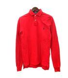 ポロ ラルフローレン POLO RALPH LAUREN ポロシャツ 長袖 ロゴ 刺繍 XS 赤 レッド