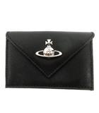 ヴィヴィアンウエストウッド Vivienne Westwood 三つ折り財布 ヴィクトリア ミニ 51150014 黒 ブラック