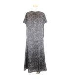 アンタイトル UNTITLED セットアップ レオパード柄 半袖 ブラウス スカート 3 グレー ブラック 210506E