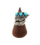 STERLING D.ALV ターコイズ フェザー リング 指輪 インディアン ジュエリー アクセサリー