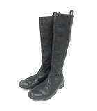 ロング ブーツ ドライビング 24.5cm ブラック 210422E 靴