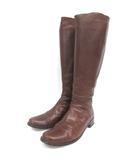 マーガレットハウエル MARGARET HOWELL idea ロングブーツ 23.5cm ブラウン 210507E 靴