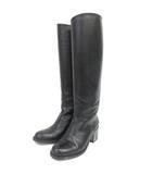 マーガレットハウエル MARGARET HOWELL idea ロングブーツ 23.5cm ブラック 210507E 靴