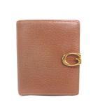 グッチ GUCCI 035・2149・1848  オールド 二つ折り 財布 ウォレット レザー 茶 ブラウン