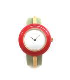 グッチ GUCCI 1100 チェンジベゼル バングルウォッチ クォーツ 腕時計 ジャンク 白文字盤 マルチカラー