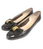 サルヴァトーレフェラガモ Salvatore Ferragamo リボン パンプス 5.5 ブラウン 210507E 靴