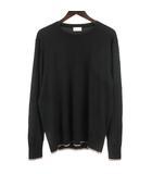 モンクレール MONCLER PATCHED SWEATER セーター ニット 薄手 長袖 トリコロール ブラック XL