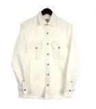 ジャンネット GIANNETTO デニム シャツ ジャケット ストレッチ ホワイト S 210617E IBO9