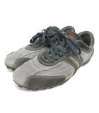 ジェオックス GEOX スニーカー スエード レザー 靴 シューズ 41 グレー 210608O
