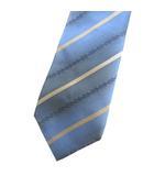 シルク レギュラー ネクタイ ストライプ ブルー