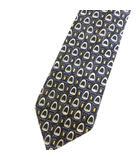 シルク レギュラー ネクタイ 総柄 パープル