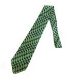シルク レギュラー ネクタイ リーフ柄 総柄 ネイビー