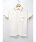 ギャラリー1950 Gallery1950 半袖 鹿の子 コットン ポロシャツ 白