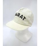 ドゥアラット DOARAT ロゴ 刺繍 コットン キャップ アイボリー