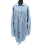 ザラ トラファルック ZARA Trafaluc デニム ショップコート 裾カットオフ 切りっぱなし ライトブルー S~M