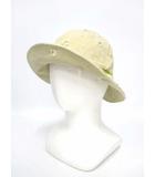 ホコモモラデシビラ Jocomomola de Sybilla ダメージ加工 コットン 帽子 ベージュ 57.5cm