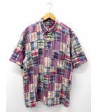 チャップス CHAPS ラルフローレン マドラスチェック パッチワーク シャツ 2L 大きいサイズ