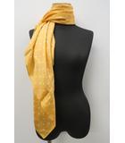 エフデ ef-de シルク 絹 ドット スカーフ オレンジ ホワイト 白