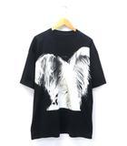 2018SS フェザー プリント 半袖 オーバーサイズ Tシャツ カットソー XS 国内正規品 黒/ブラック