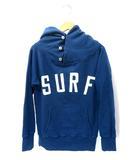 キャピタル kapital 定番 12/-レギュラー裏毛SURFフードブルゾン パーカー フーディー 1 ブルー
