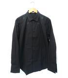 ジバンシィ GIVENCHY PARIS 2017AW リカルドティッシ期 CAMICIA IN COTTON スター刺繍 長袖 ドレスシャツ 43 BLACK 黒