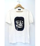 ディーゼルブラックゴールド DIESEL BLACK GOLD Snake Print T-Shirt 蛇 スネーク プリント Tシャツ L WHITE 白