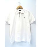 ディーゼル DIESEL 2020SS T-HART ハーフジップ 鹿の子 ポロシャツ XL WHITE 白