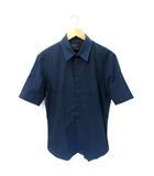 ディーゼルブラックゴールド DIESEL BLACK GOLD Print S/S Shirt 幾何化学模様 プリント 半袖 シャツ 52 NAVY 紺