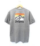未使用品 2019SS PATAGONIA パタゴニア 38441 Men's Line Logo Ridge Pocket Responsibili-Tee Tシャツ S グレー