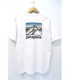 未使用品 2019SS PATAGONIA パタゴニア 38441 Men's Line Logo Ridge Pocket Responsibili-Tee Tシャツ S ホワイト