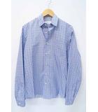 プラダ PRADA PRADA MILANO プラダ 総柄 長袖 ドレスシャツ 37 ブルー系