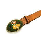 キャピタル kapital KAPITAL MADE by EF キャピタル フラガール 刺繍 フラダンス Brass 真鍮 バックル レザー ベルト ブラウン