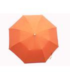 セリーヌ CELINE 日傘 折りたたみ ロゴ 手動式 オレンジ