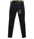 ダブルスタンダードクロージング ダブスタ DOUBLE STANDARD CLOTHING スキニーパンツ カーゴパンツ ストレッチ 黒 ブラック 34