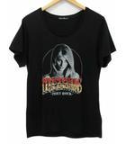 ヒステリックグラマー HYSTERIC GLAMOUR Tシャツ HOLY ROCK ガール スパンコール プリント 半袖 黒 ブラック FREE
