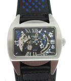 コグ COGU 腕時計 自動巻き SAKURA 桜 黒 ブラック レザーバンド