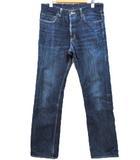 ブルーブルー BLUE BLUE デニム パンツ ジーンズ コットン ネイビー 濃紺 31 ボタンフライ 聖林公司 ddd