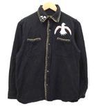 東洋エンタープライズ TOYO ENTERPRISE INDIAN MOTORCYCLE スーベニアシャツ 刺繍 ブラック 黒 S コットン ddd