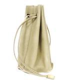 エヴァムエヴァ evam eva バッグ 巾着 leather bag ハンドバッグ レザー ベージュ 無地 ddd