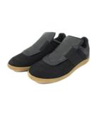 メゾンマルジェラ Maison Margiela 22 Fabric Mix Replica Slip On Sneaker スニーカー スリッポン ファブリック ミックス レプリカ ブラック 黒 40 キャンバス レザー ローカット カップインソール イタリア製 18AW ddd