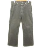 マーガレットハウエル MARGARET HOWELL エドウィン デニム ジーンズ パンツ ワイド ボタンフライ シンチバック E502-1512 グレー 29×33