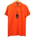 サイコバニー Psycho Bunny ポロシャツ カットソー 半袖 鹿の子 オレンジ 3 ピマコットン ワンポイント 刺繍 ddd