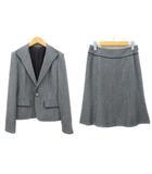 リフレクト Reflect スーツ ジャケット テーラード 1ボタン スカート 膝丈 フレア ツイード ブラック ホワイト 9