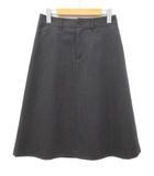 マーガレットハウエル MARGARET HOWELL スカート 膝丈 台形 ウール チャコールグレー 2