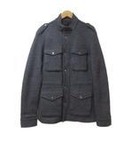セオリー theory ジャケット M-65 ウール ジ背抜き ップ スナップボタン グレー 40 M X