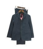 ジェイプレス J.PRESS スーツ セットアップ テーラードジャケット シングル 3B スラックス ネクタイ付き ワンタッチ コットン 紺 ネイビー 150 男の子